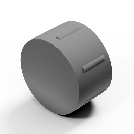 Fair-faced concrete plug 52mm plastic